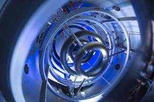 The magnetic coils inside the compact fusion (CF) experiment are critical to plasma containment, as pictured in this undated handout photo